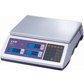 Cas ER Plus Retail Weighing Scales 15Kg Flat