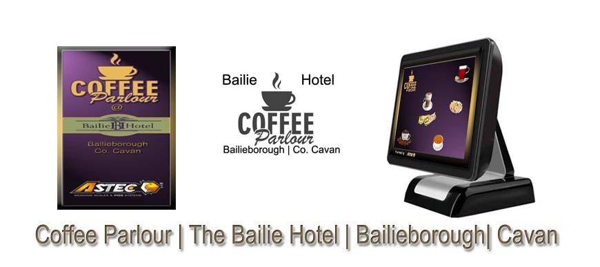 Cafe ePOS Touch Screen System Coffee Parlour Bailie Hotel Cavan