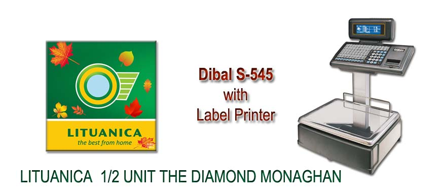 Dibal S545 Labelling Scales Lituanica The Diamond Monaghan