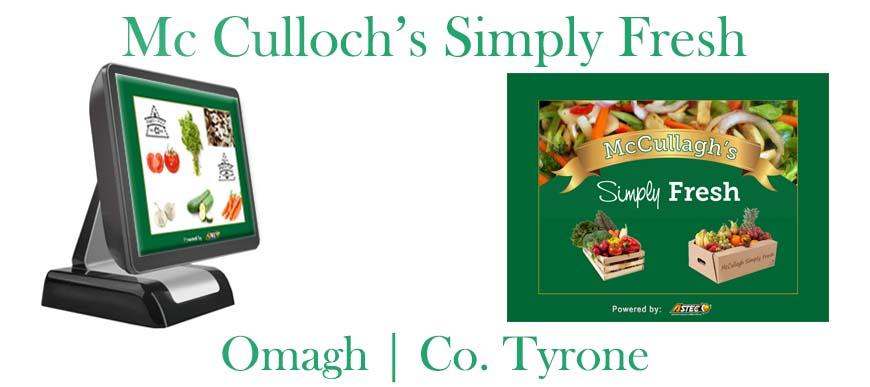 Fruit and Veg ePOS System Mc Culloch Simply Fresh Omagh Co. Tyrone