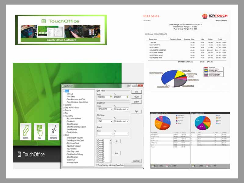 ICR TouchTMS Back Office Software