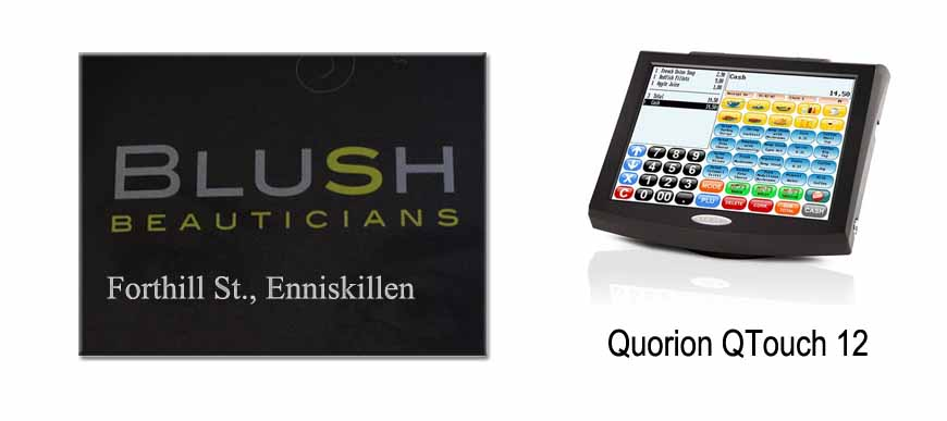 Quorion Q Touch 12 inch Touch Screen System Blush Beauticians Enniskillen