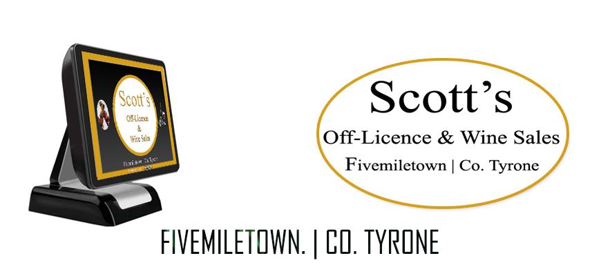 Off Licence ePOS Scotts Bar Fivemiletown Co. Tyrone