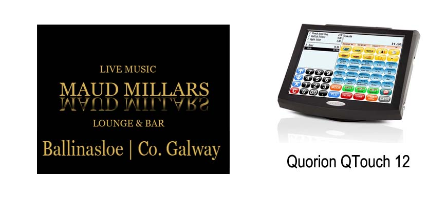 Quorion Q Touch 12 inch Touch Screen System Maud Millars Bar