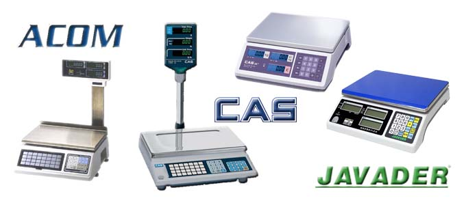 Retail Weighing Scales, Acom, Cas, Jadever