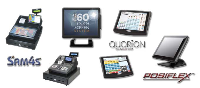Cash Register, TouchScreen from Sam4s, Posiflex, Quorion