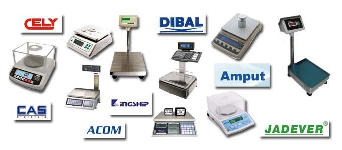 Weighing Scales Acom, Amput, Cas Cely, Dibal, Jadever. Astec Marsden